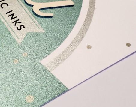 uncoated paper digital metallic ink indigo